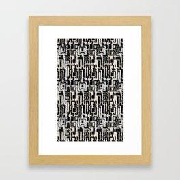 Maze Knit Framed Art Print