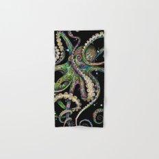 Octopsychedelia (black) Hand & Bath Towel