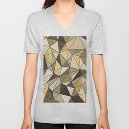 Abstract geometric patter.Triangle background 2 Unisex V-Neck