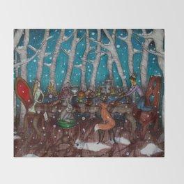 The Winter Feast Throw Blanket