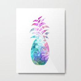 Sophisticated Pineapple - Food Metal Print