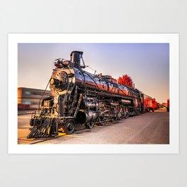 Wichita Union Station Locomotive Train in Autumn Art Print