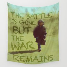 The War Remains - painting by Brian Vegas Wall Tapestry
