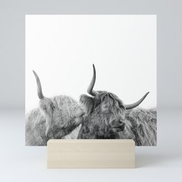 Highland cows Mini Art Print