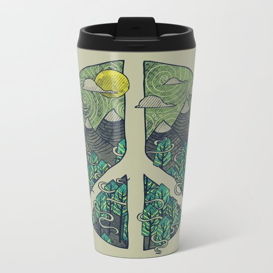 Peaceful Landscape Metal Travel Mug