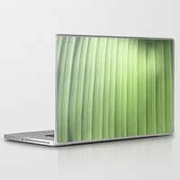 banana leaf Laptop & iPad Skins featuring Banana Leaf Close by Glenn Designs