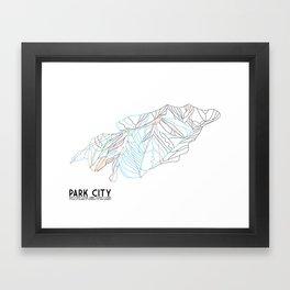 Park City, UT - Minimalist Trail Art Framed Art Print
