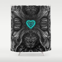 Blueheart Shower Curtain