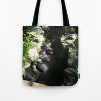 turtles Tote Bags featuring turtles  by Katie A.M.G
