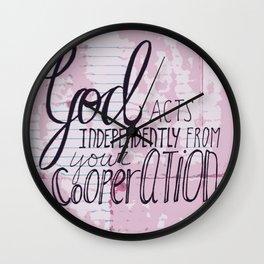 God Acts Wall Clock