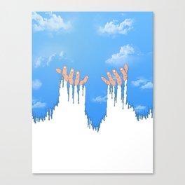 Le ciel coule sur mes mains Canvas Print