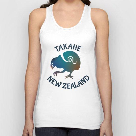 TAKAHE New Zealand Native bird Unisex Tank Top