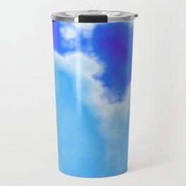 powder blue and indigo sky Travel Mug