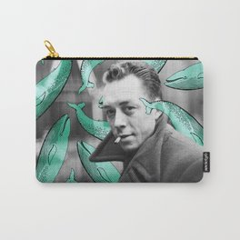 Albert Camus with calm whales Carry-All Pouch