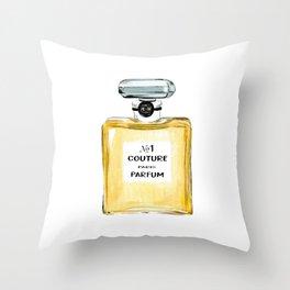 Yellow Parfum Throw Pillow