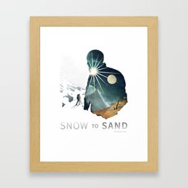 """Snow To Sand"" Official One-Sheet Poster Framed Art Print"