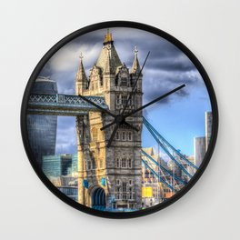Tower Bridge And The City Wall Clock