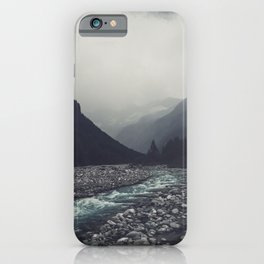 Mountain River Mallero Valmalenco Lombardia Italy iPhone Case