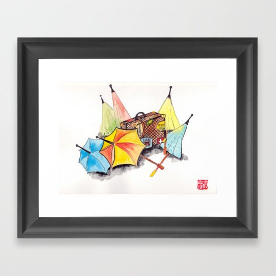 Case and point Framed Art Print