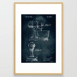 1934 - Food mixing apparatus patent art Framed Art Print