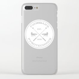 Finnigan's Pyrotechnics Clear iPhone Case