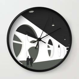 Louis Kahn in Dacca Wall Clock