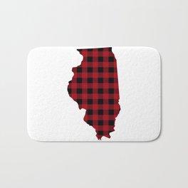 Illinois - Buffalo Plaid Bath Mat
