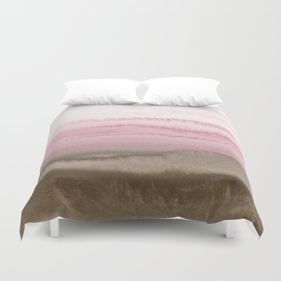 WITHIN THE TIDES STRAWBERRY CAPPUCCINO Duvet Cover