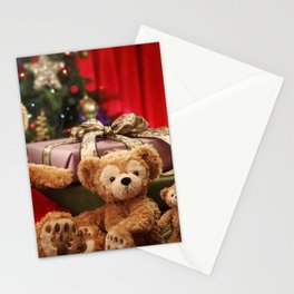 Holiday Christmas Teddy Bear Gift Santa Hat Stationery Cards