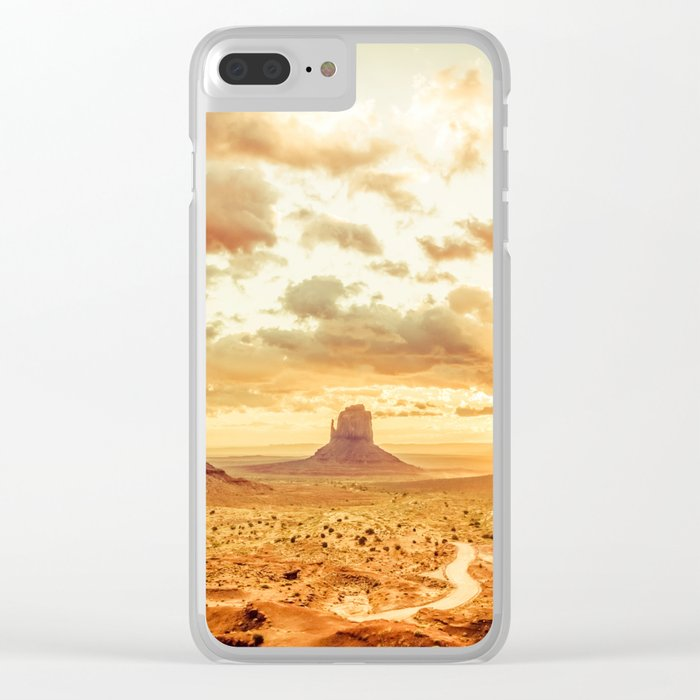 Monument Valley Sunrise Clear iPhone Case