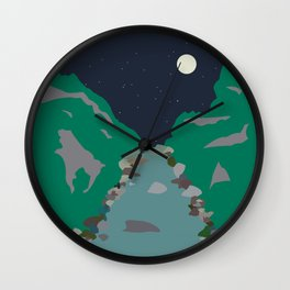 Peaks and Troughs Wall Clock