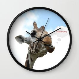Good Morning Honey Wall Clock