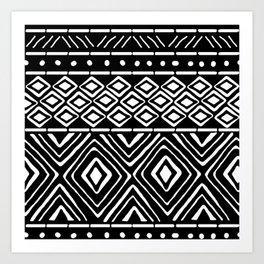 African Mud Cloth // Black Art Print