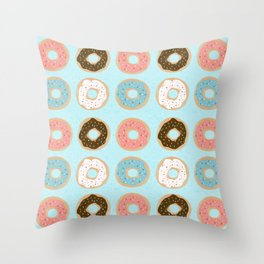 Sweet Sprinkled Donuts Throw Pillow