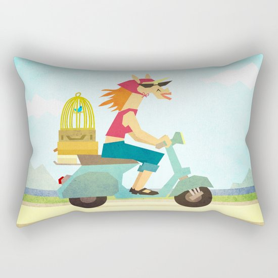 Enjoy the Ride Unicorn Rectangular Pillow