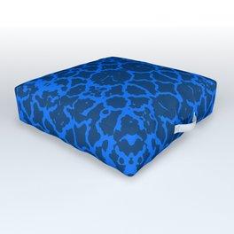 Agressive Blues Identity (Pattern Breaker 2019 Tiles Collection: M-1-01) Outdoor Floor Cushion