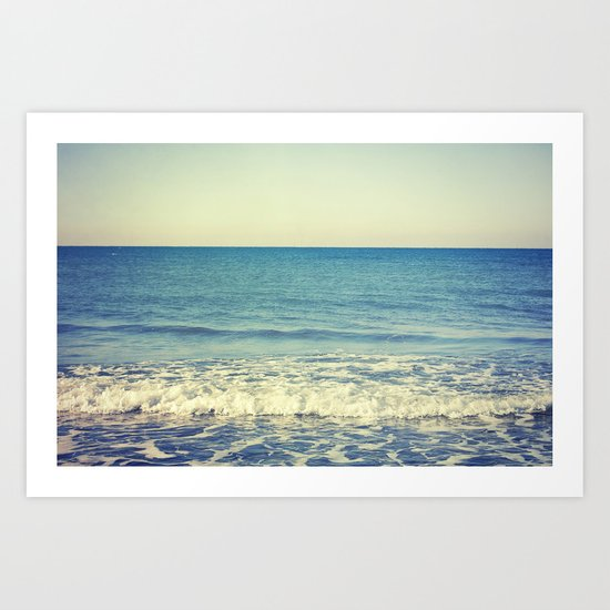 in the arms of the Ocean Art Print