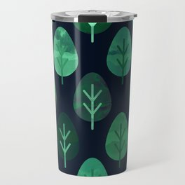 Watercolor Forest Pattern #9 Travel Mug