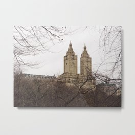 Winter in New York with the view of The San Remo apartment Metal Print