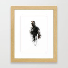 Metal Gear Solid Phantom Pain Digital Fan Art Ink-Blot Framed Art Print