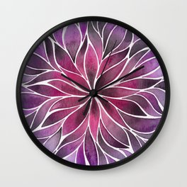 Floral Vines - Jewel Gradient Wall Clock