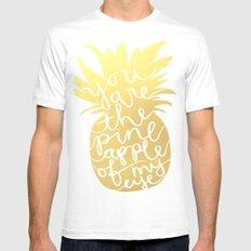 Pineapple MEDIUM White Mens Fitted Tee