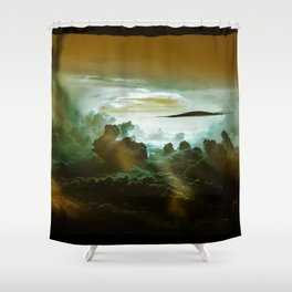 I Want To Believe - Gold Shower Curtain