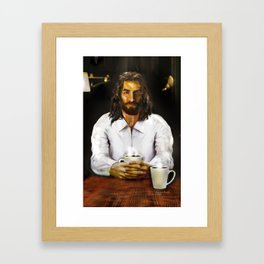 Coffee With Jesus Framed Art Print