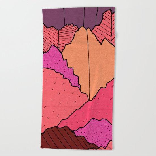 Mountain Cliffs  Beach Towel