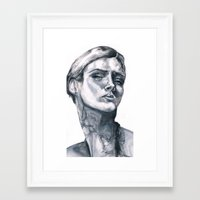 tatoo Framed Art Prints featuring Tatoo peace by Zoli Amandine