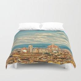 Duomo in Florence Skyline Duvet Cover
