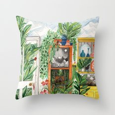 The Jungle Room Throw Pillow