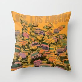 Love, Los Angeles Throw Pillow