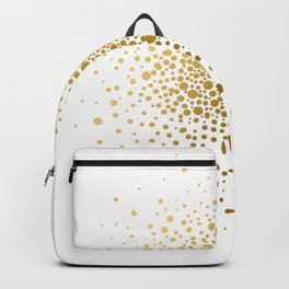 Abstract Circle Polka Dot Gold Foil Texture by Zouzounio Art Backpack